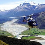 Helicopter over Southern Alps