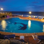 Radisson BLU St Julians Exterior Pool Night