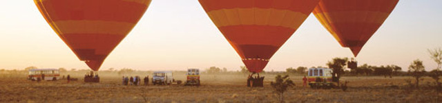 Hot air balloons in the Outback