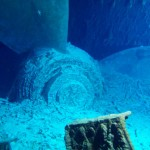 Titanic under water - The propeller