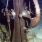 Titanic under water - The motor