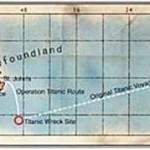 Map of the Titanics journey