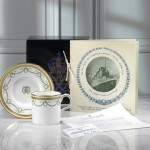Commemorative coffee cup and saucer