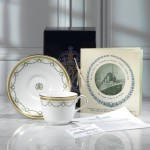 Commemorative teacup and saucer
