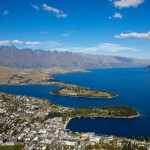 Overhead landscape photo of Queenstown